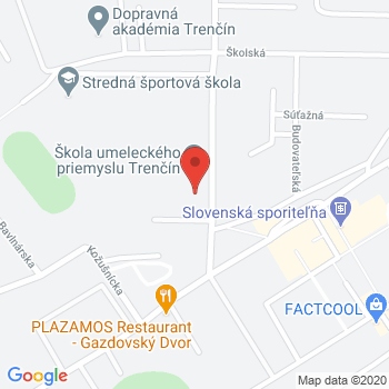 Google map: Expo center Trenčín
